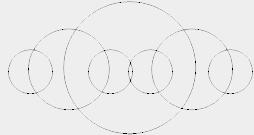 Пример рекурсивной программы построения окружностей